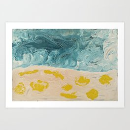 Melting Stars Freezing Winds Art Print