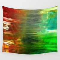 cross Wall Tapestries featuring Cross Over by RvHART
