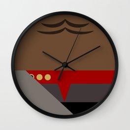 Worf - Minimalist Star Trek DS9 Deep Space Nine - Lieutenant Commander - startrek - Trektangles Wall Clock