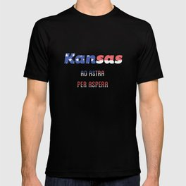 Kansas Ad astra per aspera T-shirt