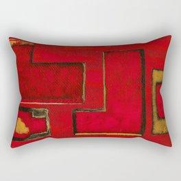 Detached, Abstract Shapes Art Rectangular Pillow