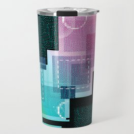 Abstract Tech Travel Mug