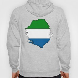 Sierra Leone Map with Sierra Leonean Flag Hoody