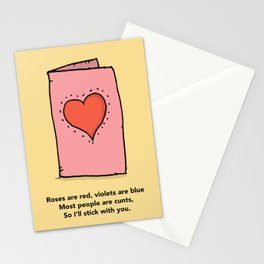 Roses are red... Stationery Cards