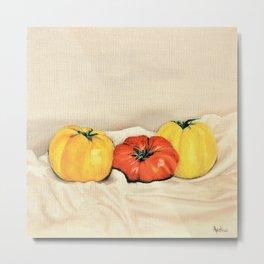 Heirloom tomatoes still life Metal Print