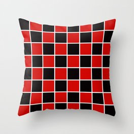 Red & Black Chex 1 Throw Pillow