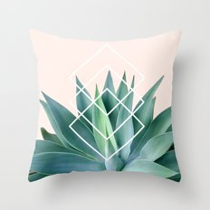 Agave geometrics - peach Throw Pillow
