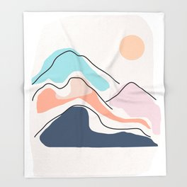Minimalistic Landscape III Throw Blanket