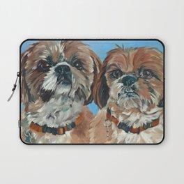 Shih Tzu Buddies Dog Portrait Laptop Sleeve