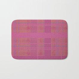 pink madras Bath Mat