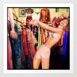 Gleeful Narcissism Art Print