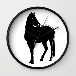 Horse Black Silhouette Animal Pet Cool Style Wall Clock