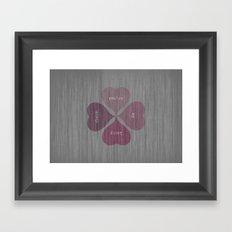 YOU'RE MY LUCKY CHARM  Framed Art Print