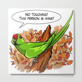 Talking ringneck parrot Metal Print