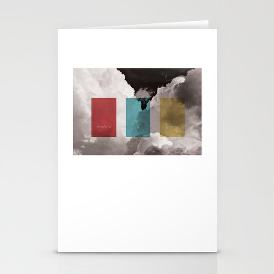 simplicity is freedom Stationery Cards