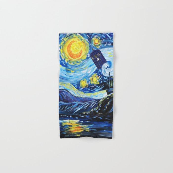Tardis Starry Night Castle Hand & Bath Towel