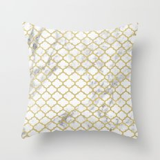 Moroccan marble Throw Pillow