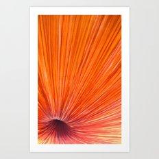 Orange and Red Art Print