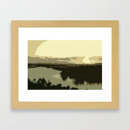 Miami Sunrise Abstract Framed Art Print