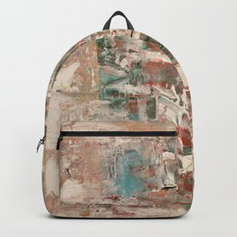Misty pop: Abstract Acrylic Painting with peachy soft colors Backpack