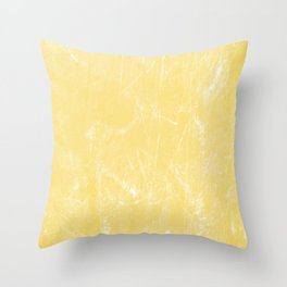 Flaxen Yellow Throw Pillow