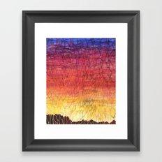 Desert Sunset Pattern Framed Art Print
