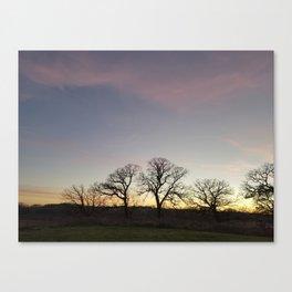 Autumn Sunset Silhouette - Pheasant Branch Conservancy Canvas Print