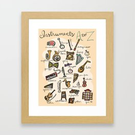 Instruments A to Z Framed Art Print