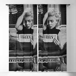 Marilyn#Monroe, Motion Picture Daily, NYC, 1955, photography of Ed Feingersh Poster Litho Vintage American Icon Blackout Curtain