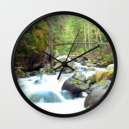 A Washington Waterfall ~ Cascade Mountains ~ Wall Clock