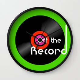 Off The Record - Black Wall Clock