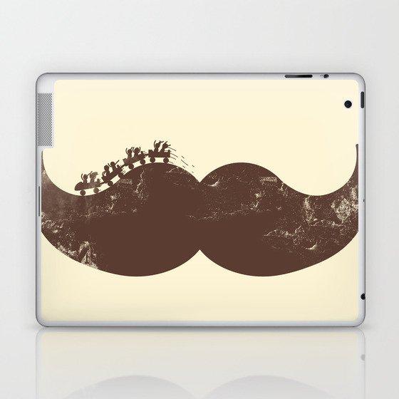 Mustache Ride Laptop & iPad Skin