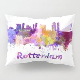 Rotterdam skyline in watercolor Pillow Sham