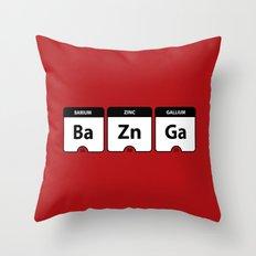 Bazinga Periodic Table Funny Quote Throw Pillow