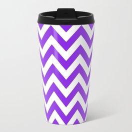 Chevron pattern / blue violent Travel Mug