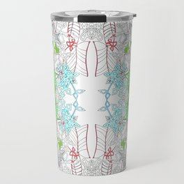 Jungle line art mandala Travel Mug