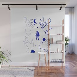 Destiny's Path Blue Wall Mural