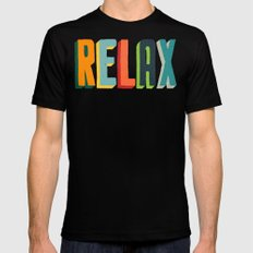 Relax MEDIUM Mens Fitted Tee Black