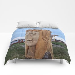 Driftwood Face Comforters