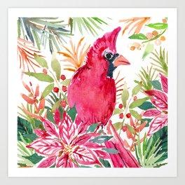 CardiBird the CARDINAL Art Print