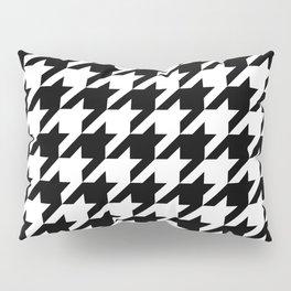 Houndstooth pattern, geometric monochrome Pillow Sham