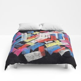 Multicolor construct Comforters