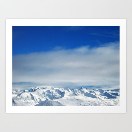 swiss alps Art Print