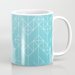 geometric turqoise Coffee Mug