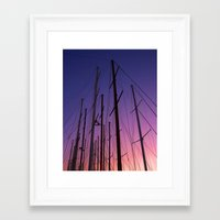 sailing Framed Art Prints featuring sailing by gzm_guvenc