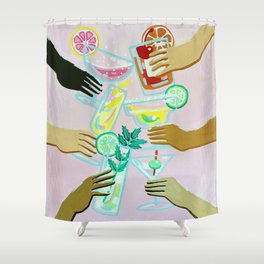 Better With Friends Shower Curtain