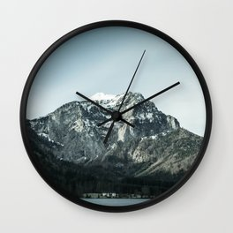 Winter Norwegian mountains Wall Clock