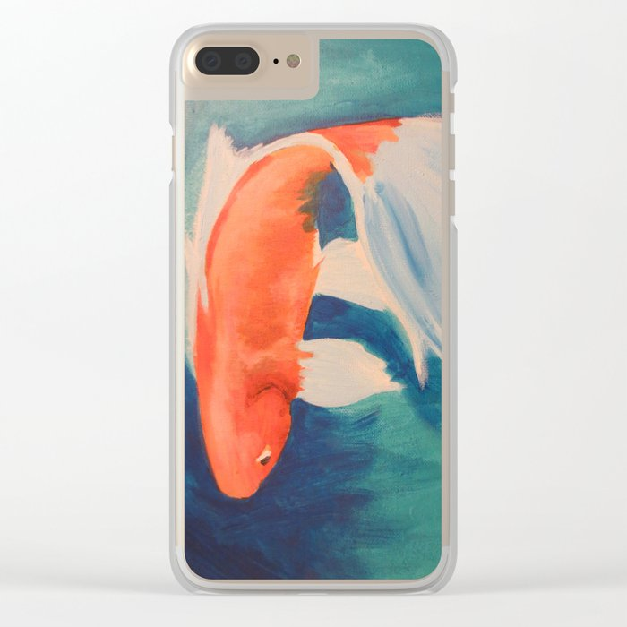 Acrylic Koi FIsh Clear iPhone Case