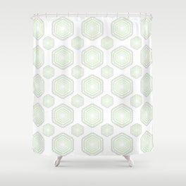 Green Shade Polygon Shower Curtain