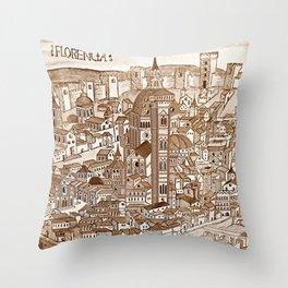 Florencia Sepia Throw Pillow